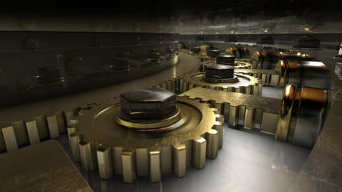 Mechanism of vault door Stock Video Footage