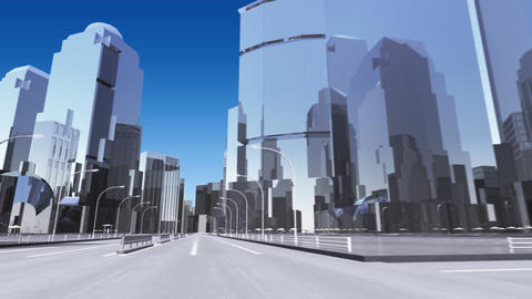 City 6A1 HD Stock Video Footage