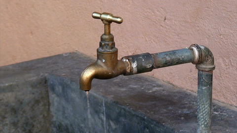 Malawi: water dripping from tap 1 Footage