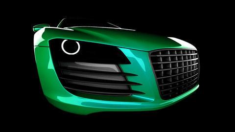 loop car in studio Stock Video Footage
