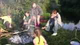 Family Camping 1 stock footage