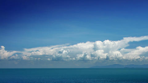 Clouds and sea timelapse Footage