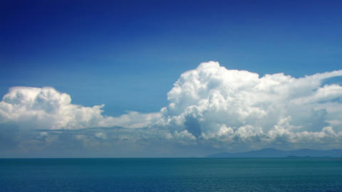 Clouds and sea timelapse Stock Video Footage