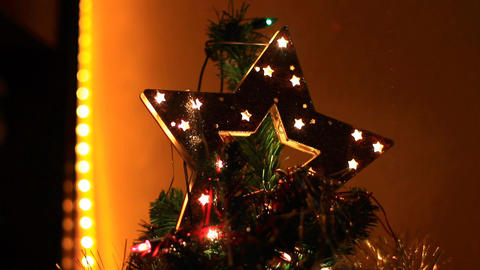Christmas Tree Top Stock Video Footage