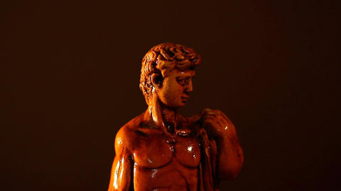 Michelangelo David Statue ART 01 tilt Stock Video Footage