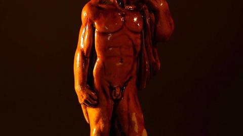 Michelangelo David Statue ART 01 tilt Stock Video Footage