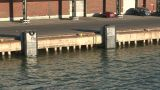 Passing By Commercial Wharf, Close-up stock footage