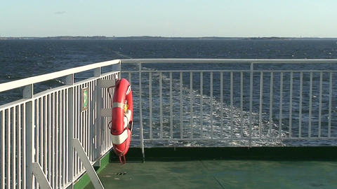 Metal fence on cruise ship Stock Video Footage