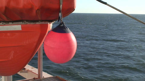 Lifeboat on a cruise ship Footage