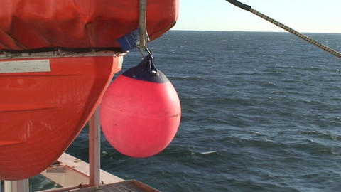 Lifeboat on a cruise ship Stock Video Footage