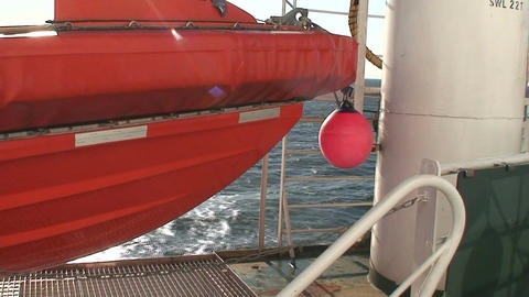 Lifeboat on a cruise ship 3 Stock Video Footage