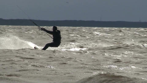 Kite surfing two in the Baltic sea Footage