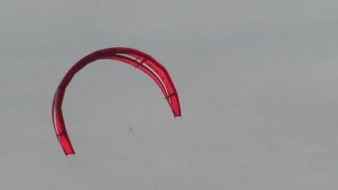 Kite surfing six in the Baltic sea Stock Video Footage