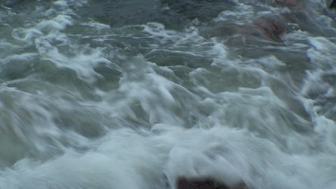 Background from waves at seashore two, close-up Footage