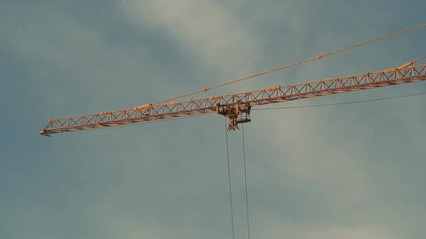 Arrow of crane with moving carriage Stock Video Footage