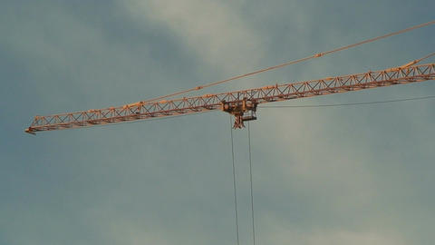 Arrow of crane with moving carriage Footage