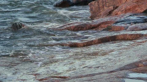 Background from waves at seashore three, close-up Stock Video Footage