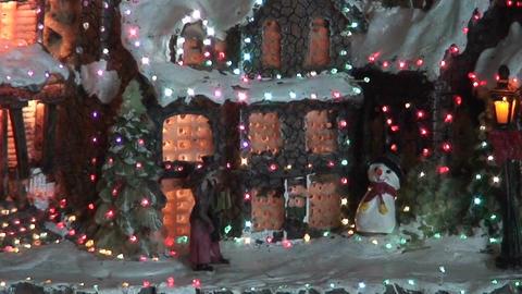 Christmas tree illumination, close-up Stock Video Footage