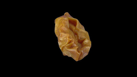 Rotating dried pear fruit endless loop ALPHA matte 3 Stock Video Footage