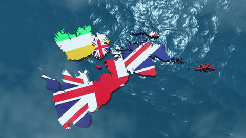 3D HD United Kingdom Map Animation