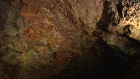inside lava cave 1 Stock Video Footage