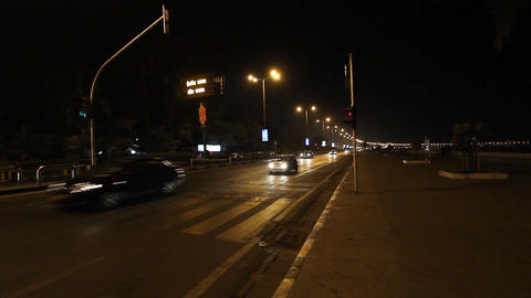 night traffic Stock Video Footage