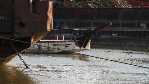 barge Stock Video Footage