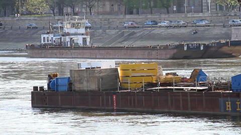 Barge stock footage
