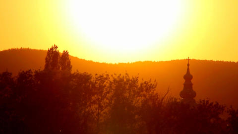 Beauty Sunset at Spring Stock Video Footage