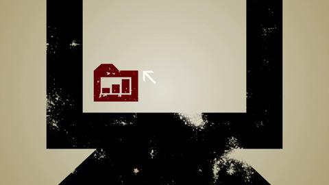 Computer BarChart Loop HD Animation