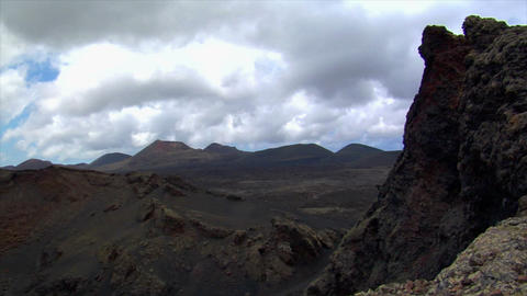 timelapse clouds on vulcan crater edge Stock Video Footage