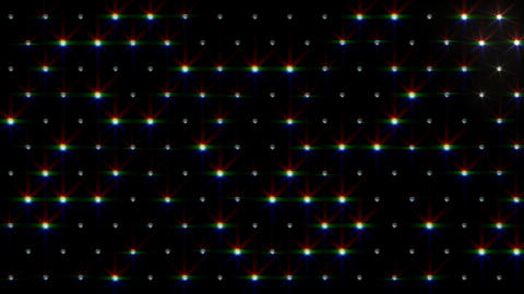 LED Disco Wall FPb3 Stock Video Footage