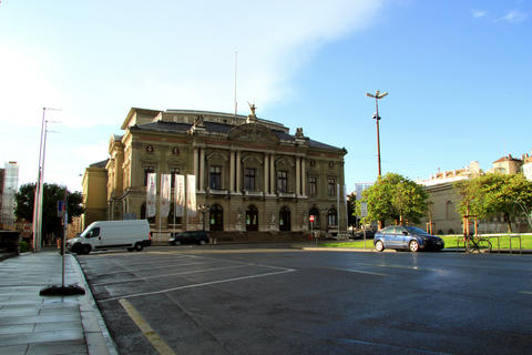 Geneva Place De Neuve stock footage