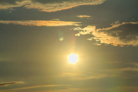 Sun And Clouds Timelapse stock footage