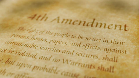 Historic Document 4th Amendment Animation