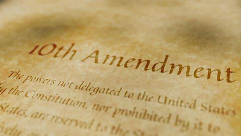 Historic Document 10th Amendment Animation