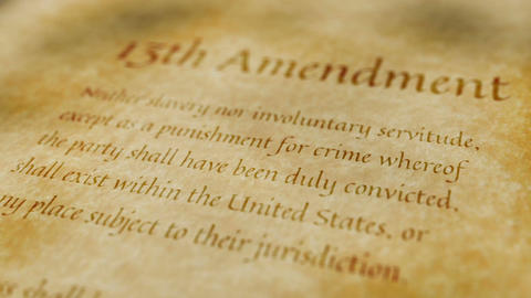 Historic Document 13th Amendment Animation