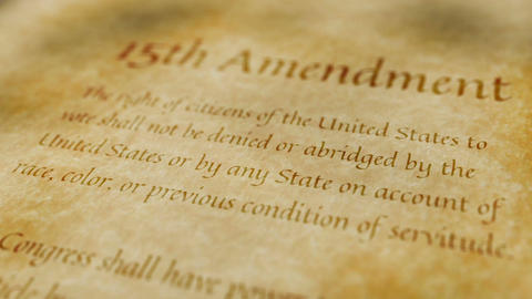 Historic Document 15th Amendment Animation