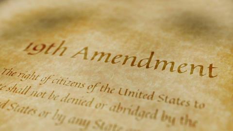 Historic Document 19th Amendment Animation