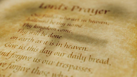Religious Christian Text Lords Prayer Animation