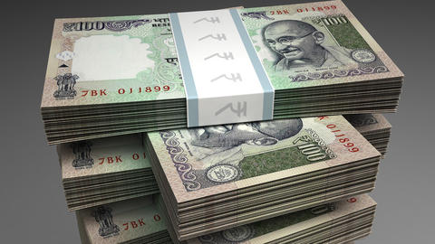 Stack of Indian Rupee Animation
