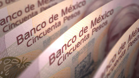 Mexican Pesos Close-up Animation
