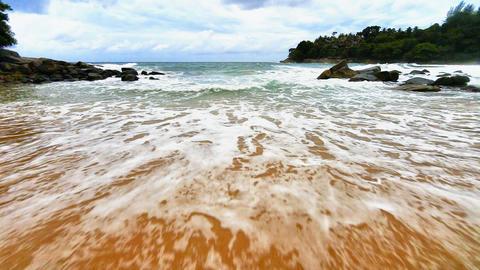 Surf with a sandy beach. Thailand. Phuket Footage