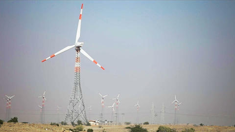 1920x1080 video - Wind electricity power station Footage