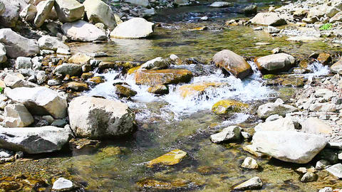 Mountain stream cascades Footage