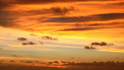 Orange sunset sky - time-lapse Footage
