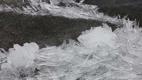 1920x1080 Video - Floating Ice Drift On The River  stock footage