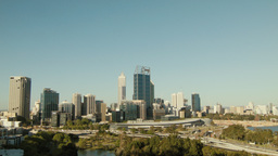 View of the City of Perth from King's Park Footage