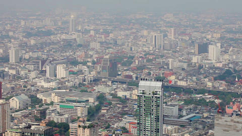 Views Over Tall Buildings Of The City. Thailand. B stock footage