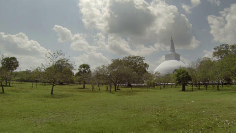 Ancient stupa in Sri Lanka Footage